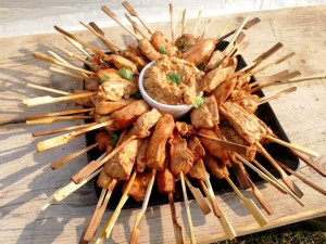 North East - canapes - chicken kebabs